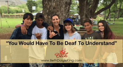 """You Have To be Deaf…"""